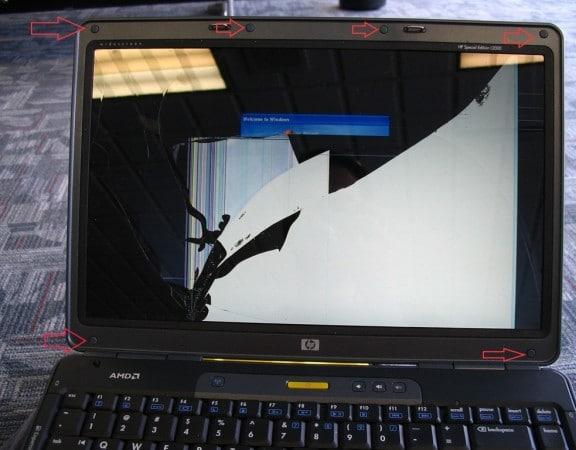 Reparar pantalla rota de portátil